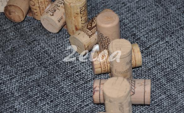 Corona de Navidad con corchos reciclados - www.2eloa.com