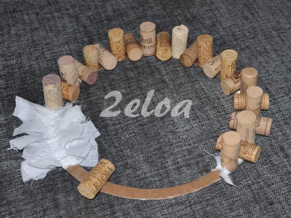 Corona de Navidad con corchos reciclados - 2eloa.com