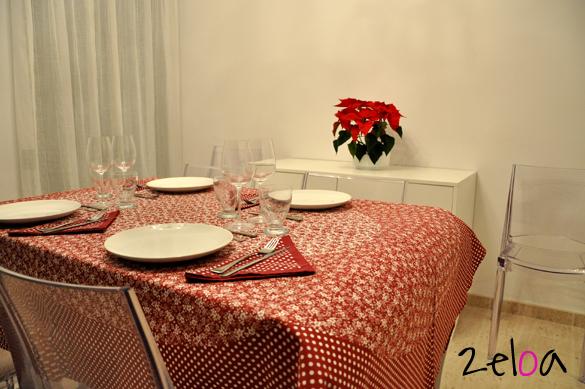 Detalle mesa puesta para cena - 2eloa.com