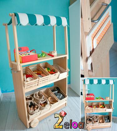 Puestecito de mercado de juguete diy 2eloa - Cocina lidl juguete ...