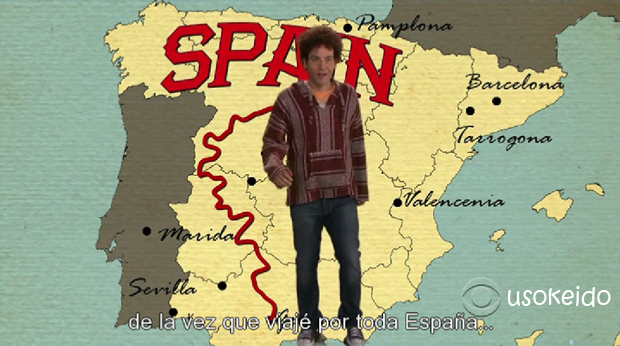 Mapa de España en How I met your mother - www.usokeido.com